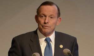 Australia's prime minister, Tony Abbott. 'Australia is seen as very much out of touch and out of sync with what's happening globally,' says one expert in the lead-up to the Paris climate talks.