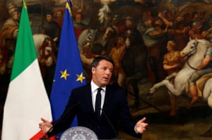 Rome, Italy Prime Minister Matteo Renzi speaks during a media conference after a referendum on constitutional reform