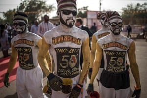 Performers at the opening ceremony of the Panafrican Film and Television Festival, Africa's biggest film festival, which is held in Burkina Faso