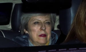 Theresa May is driven away from the Commons