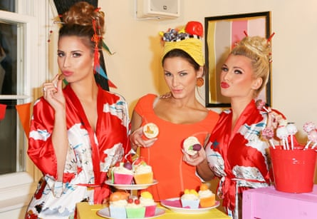 Ferne McCann, Sam Faiers and Bille Faiers in The Only Way is Essex in 2014.
