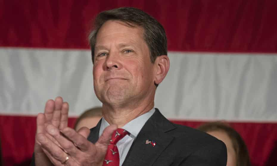 Georgia secretary of state Brian Kemp, who is running for governor against Stacey Abrams, is alleged to have improperly purged voters from state registration rolls.