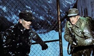 Patrick Jordan, left, with Kirk Douglas in The Heroes of Telemark, 1965