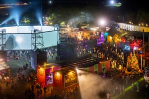 Shangri-La at Glastonbury 2019 – the area will be recreated digitally this year.