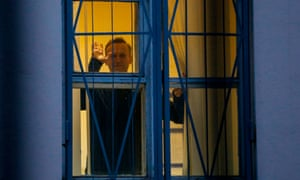 File photo of Alexei Navalny detained in Moscow ahead of a rally on 29 September