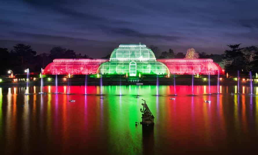 Kew Gardens illuminations at Christmas
