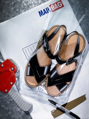 Talk about unsung hero. Margaret Howell practically owns the beautifully downplayed sandal. Nothing will anchor the deconstructed, eccentric, awkward spring trends better than these. They're first-class footwear.Patent leather sandals, £395, by Margaret Howell.