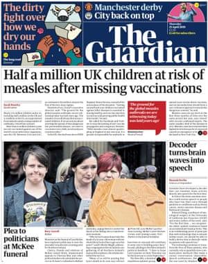 Guardian morning briefing, Thursday 25 April 2019