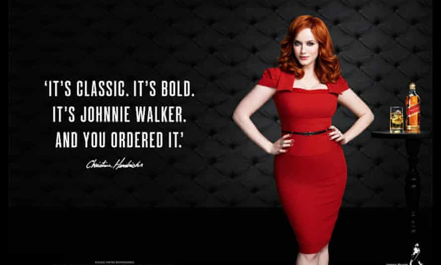 Mad Men and star Christina Hendricks fronted a Johnnie Walker ad campaign.