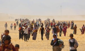 Yazidis trapped in the Sinjar mountains are rescued