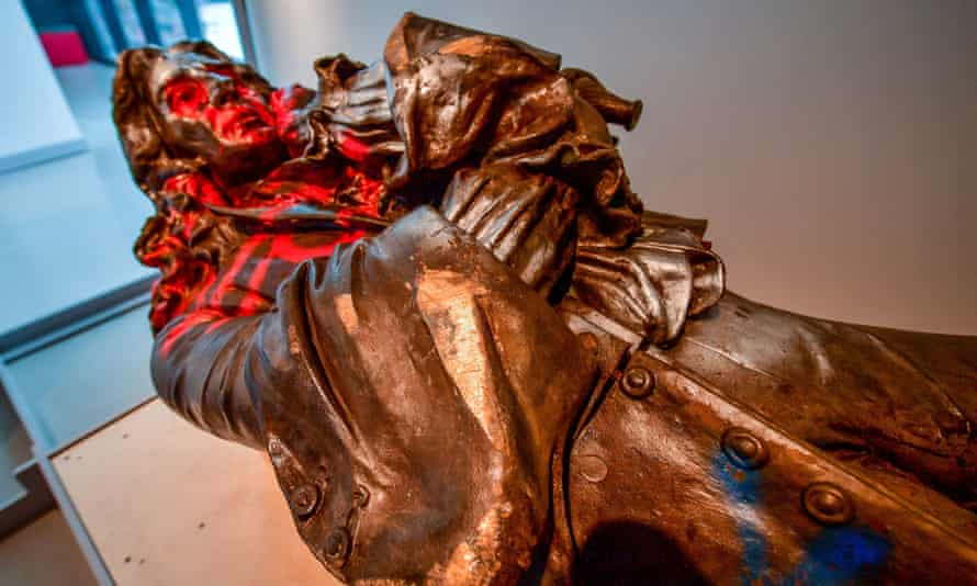 The Edward Colston statue was retrieved after being toppled during a Black Lives Matter protest in June 2020 and thrown into Bristol harbour.