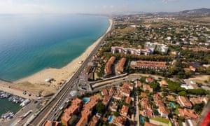 El Masnou beach, reached by train north-east of Barcelona