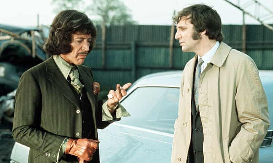 Peter Wyngarde (left) playing author and detective Jason King in 1972.