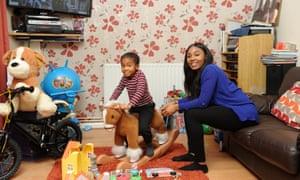 Shanae Dennis, NHS worker and her son Jayden