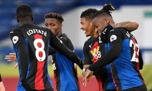 Michy Batshuayi of Crystal Palace celebrates after scoring