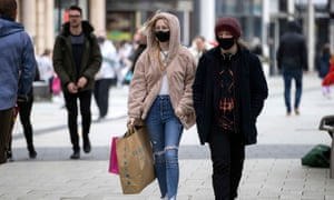 Shoppers in Cardiff city centre in May.