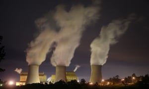 Night time image of Yallourn power station in the Latrobe Valley, Victoria