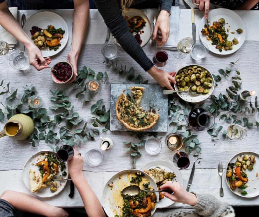 Anna Jones' Christmas spread: 'We are a family of vegetarians and vegans – my task is to make something that will unite us all around the table.'