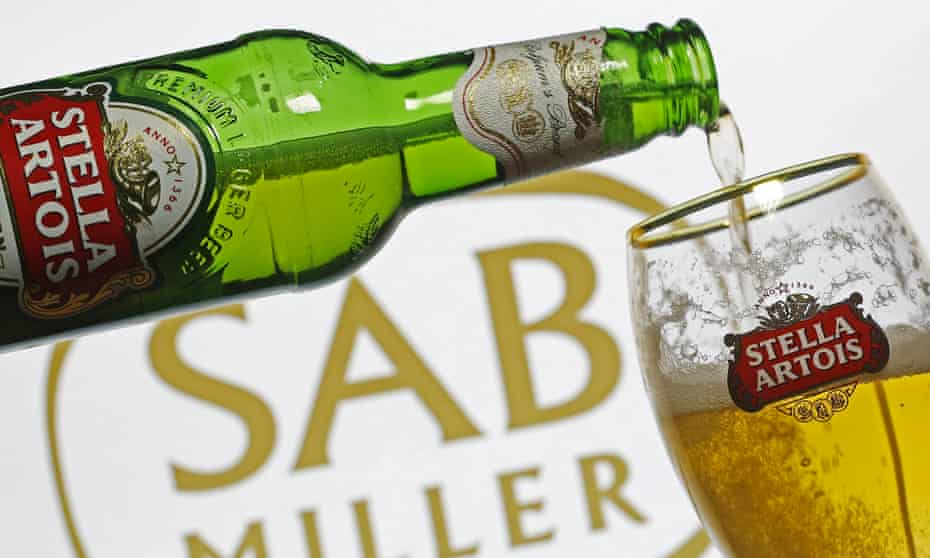 The new group would combine AB InBev's Budweiser, and Stella Artois with SABMiller's Pilsner Urquell among many other brands.