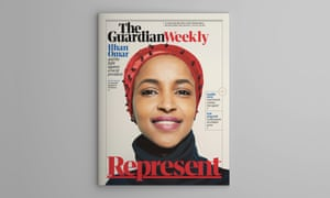 Ilhan Omar, on the cover of the 26 July edition of the Guardian Weekly