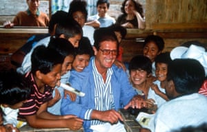 Moore became a UNICEF Goodwill Ambassador in 1991. Seen here in Central America