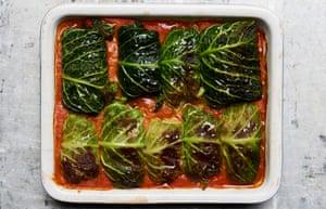 Golabki - pork stuffed cabbage rolls