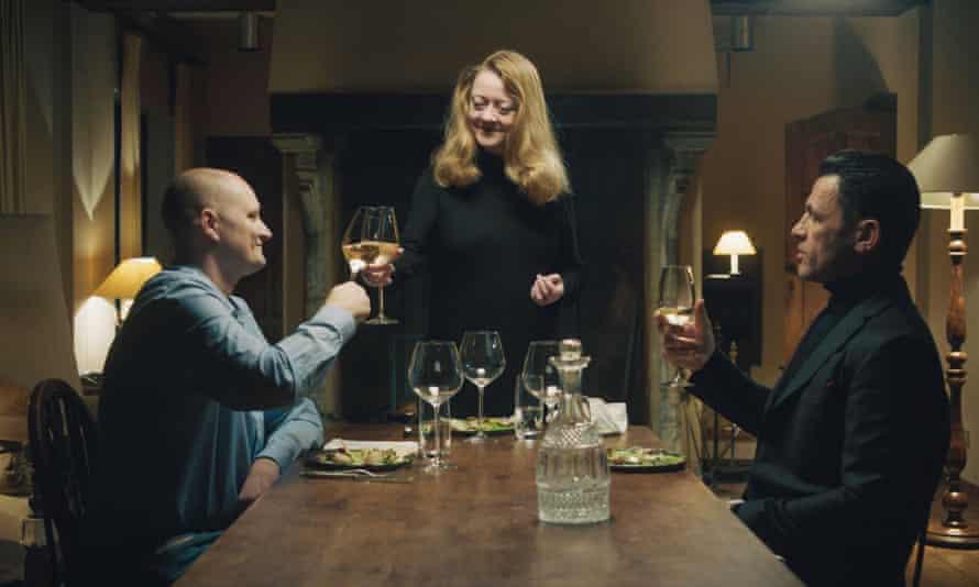 Larsen and Latrache-Qvortrup attend a celebratory dinner.