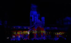 Durham Cathedral displays cosmology during the Lumiere festival