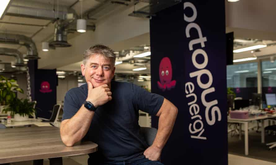 Greg Jackson, of Octopus Energy, in the company's London workspace.