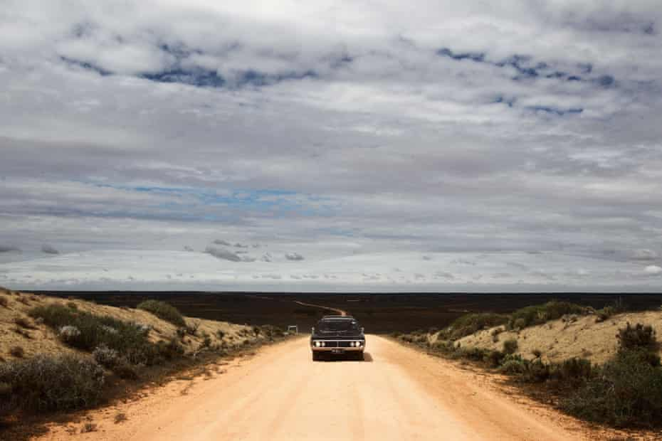 The hearse coming through Mungo National Park for service.