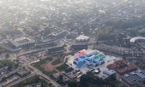 The house, built just metres from where Lego was born, is intended to help regenerate the centre of Billund.