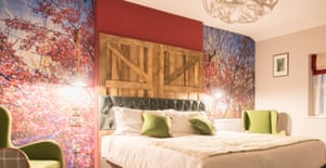 The Marrall Woodland 1 room at the Royal Oak.