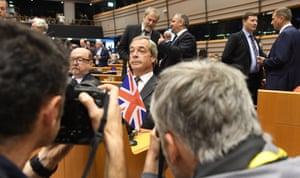 Brussels, Belgium. Ukip leader Nigel Farage is photographed during a special session of the European parliament