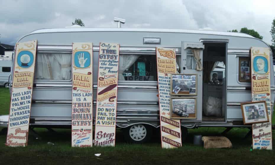 A palm reader's caravan at Appleby.