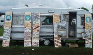 A palm reader's caravan at Appleby fair.