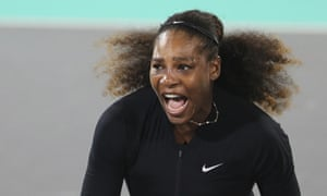 Serena Williams made her return to tennis against Jelena Ostapenko at the World Tennis Championship in Abu Dhabi.