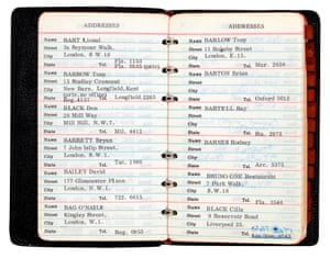 Brian Epstein: address book, 1967 A who's who of the Beatles circle and 1960s London, containing 404 entries, the majority typed but with many additional entries in Epstein's autograph, with entries including many of those closely associated with the bandEstimate: £6,000 - £8,000