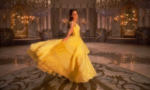 Emma Watson as Belle in Disney's Beauty and the Beast, a live-action adaptation of the studio's classic animated film