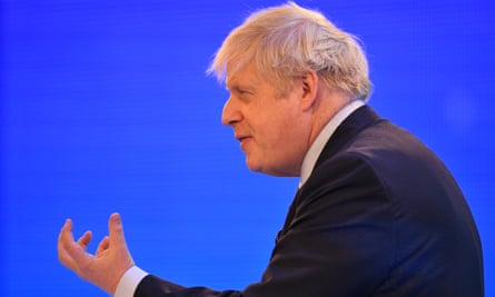 Boris Johnson at the CBI conference in London