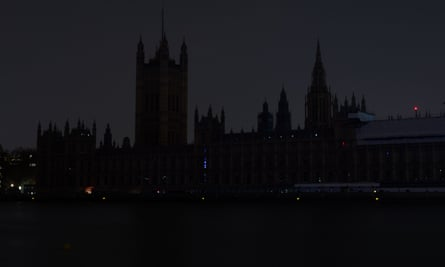 The Houses of Parliament in London mark WWF's Earth Hour,.