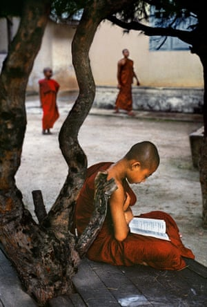 A young monk in Myanmar