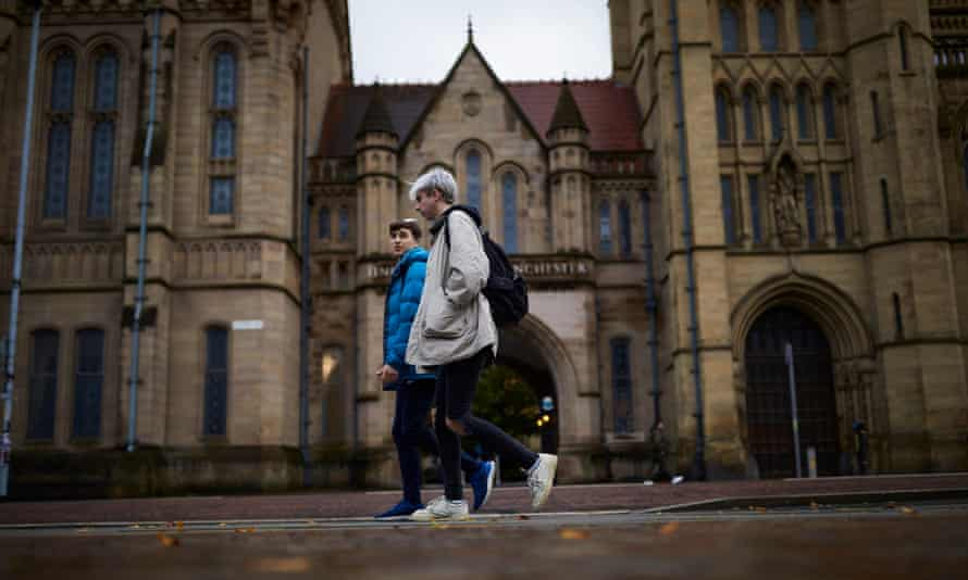 Students at the University of Manchester in October.