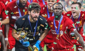 Liverpool's signing of Alisson (left) and new contract for Sadio Mané were included in the figures for the financial year to 31 May 2019.