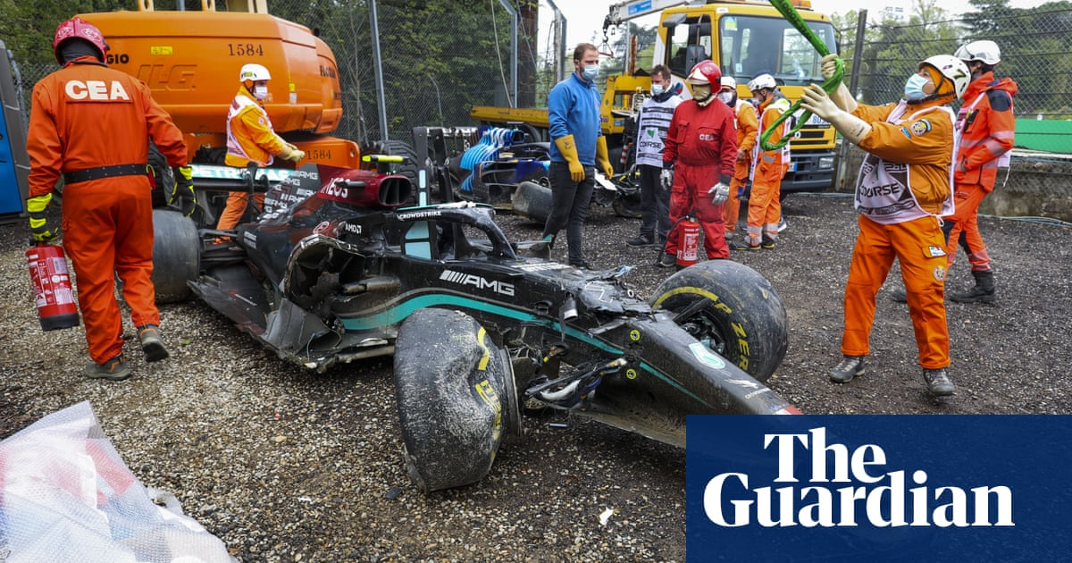 Toto Wolff rebukes George Russell over Imola F1 crash with Valtteri Bottas