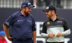 The first-round leader Louis Oosthuizen and defending champion Shane Lowry.
