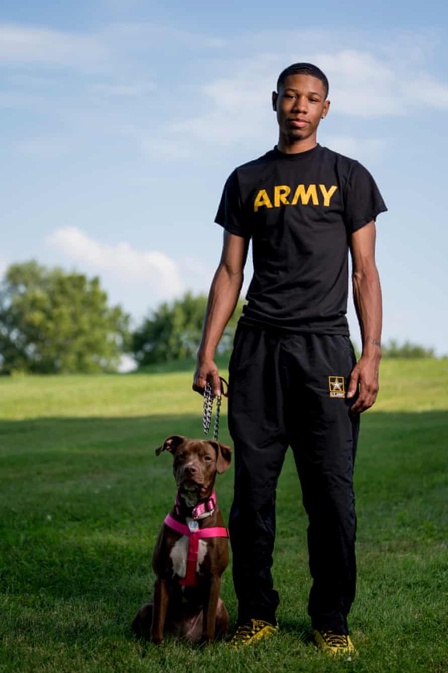 Ricky Allen with his dog, Zoey.