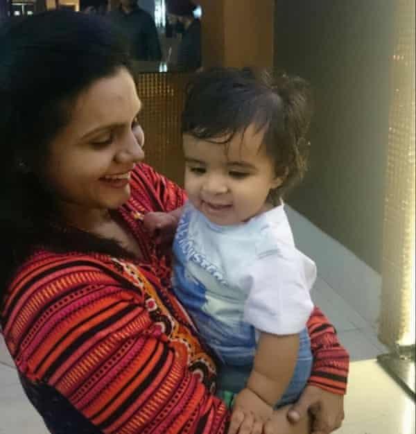 Hetaal Badiyani and her son Kiaan