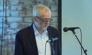 Jeremy Corbyn makes his speech on digital democracy