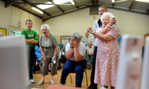 Fun is a serious business - the Brookside Day Centre in Tenbury Wells introduced a Nintendo Wii.