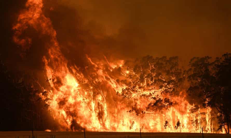 A bushfire at Bilpin, NSW, in December 2019
